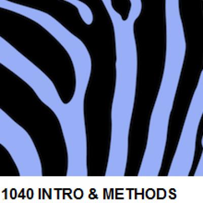 1040 Intro & Methods